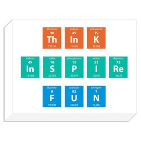 Picture of Think Inspire Fun Accent Art- 12x16 in.
