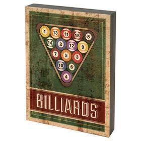 Picture of PL  BILLARDS TBLTP SIGN 8X10