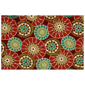 Picture of E160 Red and Teal Rug