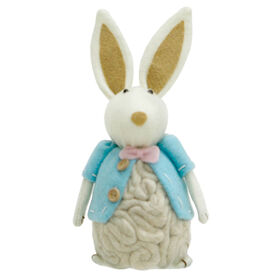 Picture of Wool Bunny with Blue Tux