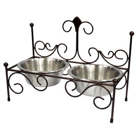 Picture of Double Diner Bone Food Stand, Black