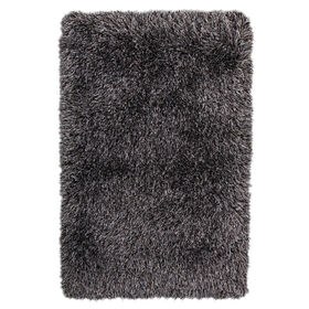 Picture of C67 Silver and Black Shag Rug