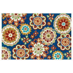 Picture of E138 Blue Medallions Rug