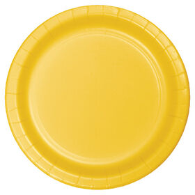 Picture of YELLOW 7IN SALAD PLATE 24CT
