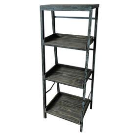 Picture of 4-Tier Wood & Metal Folding Shelf 14x20-in