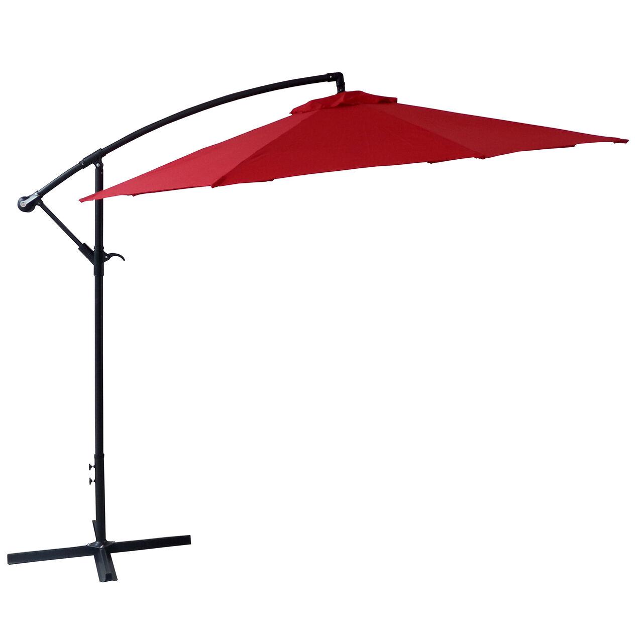 Umbrella covers for patio umbrellas - Offset Red Outdoor Umbrella 10 Ft