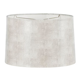 Picture of Cream and Silver Drum Lamp Shade 15x16x10-in