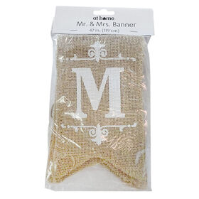Picture of 47IN BANNER MR/MRS BURLAP