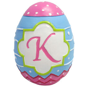 Picture of Easter Egg with K Monogram