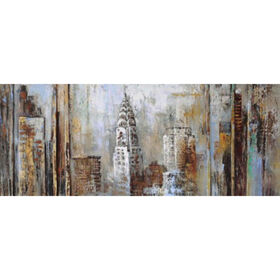 Picture of 63 x 16 City Panel II Canvas Art