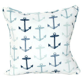 Picture of Anchor Arbor Blue Nautical Coastal Outdoor Pillow