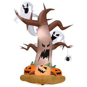 Picture of 8 Foot Spooky Tree Inflatable with Ghosts
