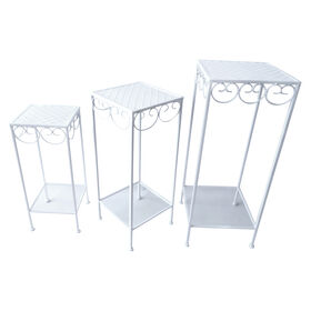 Picture of White Square Nested Plant Stand - Small (Sold Separately)