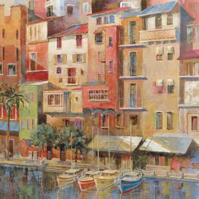 Picture of Painted Palermo Art- 24x24 in.
