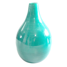 Picture of Aqua Bamboo Fat-Bottom Vase 6.3x9.84-in