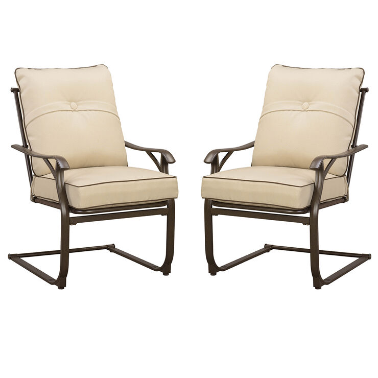 Brunspark Set of 2 Cushioned Dining Chairs