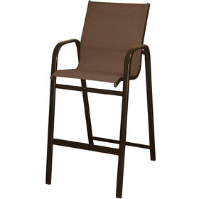 Picture of Brown High-back Sling Bar Stool - 30 in.