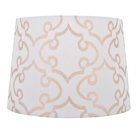 Picture of Brown and White Loop Pattern Lamp Shade 12x14x10-in