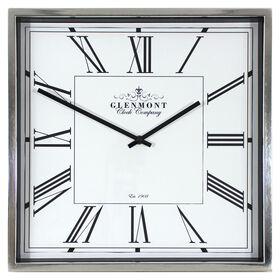 Picture of 16 X 16-in Chrome Square Roman Numeral Clock