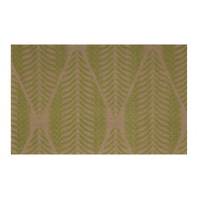 Picture of Leaf Print Jute Rug- 27x45 in.