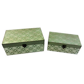 Picture of Small Gray Print Wood Box (sold separately)