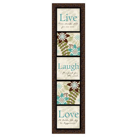 Picture of 8 X 33-in Live Laugh Love Framed Plaque