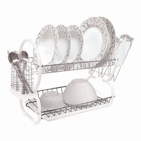 Picture of 2-Tier Dish Rack - White