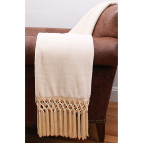 Picture of Ivory Crochet Throw- 50x60 in.
