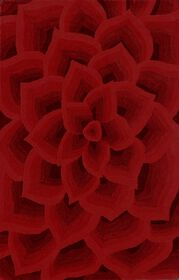 Picture of A169 Red Tufted Petals Rug