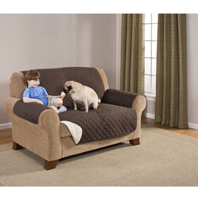 Picture of Love Seat Protector- Brown & Tan
