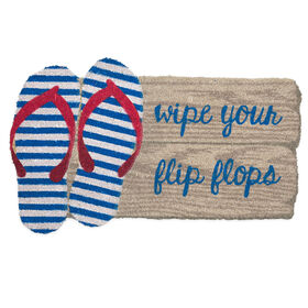 Picture of 18X30 COIR WIPE YOUR FLIP FLOP