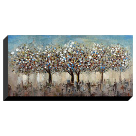 Picture of 27 X 55-in Pastel Trees Gallery Art