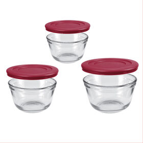 Picture of 6 PC MIXING BOWL SET W/RED LID