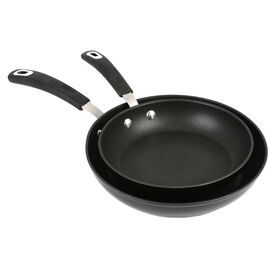 Picture of Aluminum Fry Pan Twin Pack, 8-in and 10-in