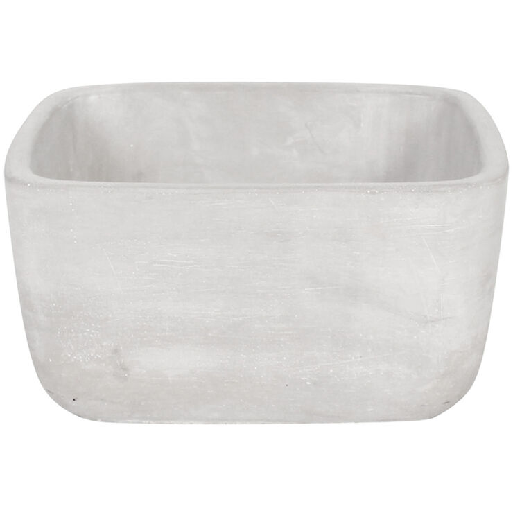 Rectangle Cement Planter 7.9-in