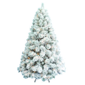 Picture of D22 7.5 ft Pre-Lit Laurent Spruce Christmas Tree with 500 Clear Lights