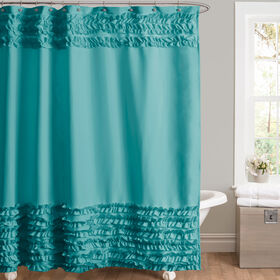 Picture of Turquoise Skye Ruffled Shower Curtain