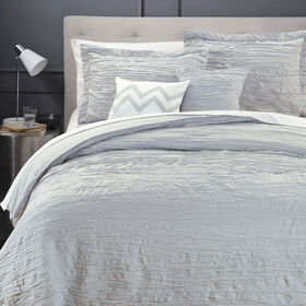 Picture of Gray Crinkle 5-Piece Comforter Set, Twin
