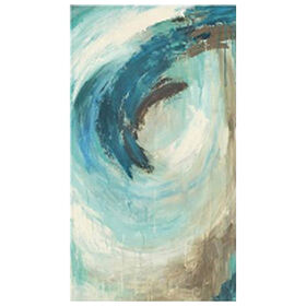 Picture of Blue Hawaii Abstract Canvas Art- 36x60 in.