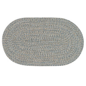 Picture of Blue and Beige Braided Oval Rug- 20x30 in.