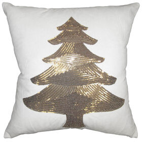 Picture of Gold Sequin Tree Pillow 18-in