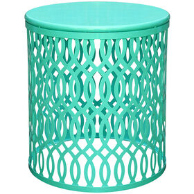 Picture of Large Round Aqua Nested Table- 17 in.