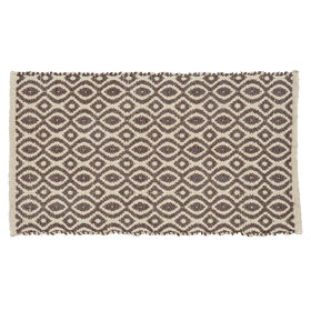 Picture of Brown Jute & Rayon Geometric Accent Rug 20 X 34-in