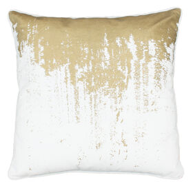 Picture of Gold Drip Pillow- 20-in
