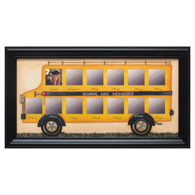 Picture of 20 X 10-in Die School Days Bus Collage Frame