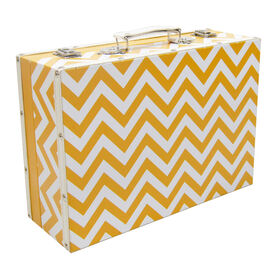 Picture of YELW WHT CHVRON TRUNK 14X10X5