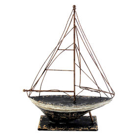 Picture of Metal Tabletop Boat Decor - 14.7 X 20