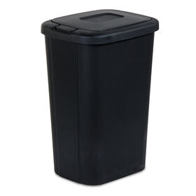 Picture of 53 Quart Touch-Lid Wastebasket - Black
