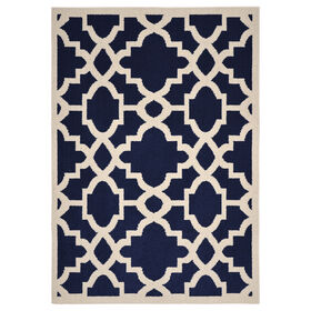 Picture of D193 Indigo and Ivory Athens Rug