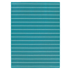 Picture of Teal Avery Stripe Rug 3 X 5 ft